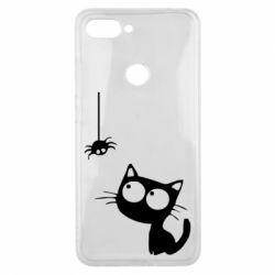 Чехол для Xiaomi Mi8 Lite Котик и паук