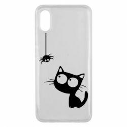 Чехол для Xiaomi Mi8 Pro Котик и паук