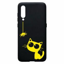 Чехол для Xiaomi Mi9 Котик и паук