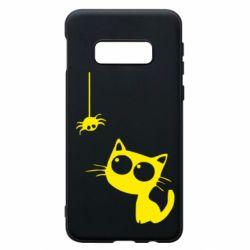 Чехол для Samsung S10e Котик и паук