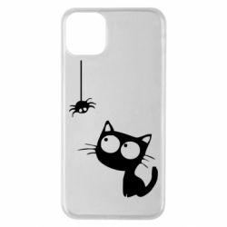 Чехол для iPhone 11 Pro Max Котик и паук