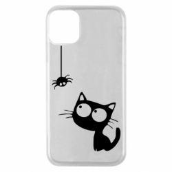 Чехол для iPhone 11 Pro Котик и паук