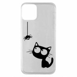 Чехол для iPhone 11 Котик и паук