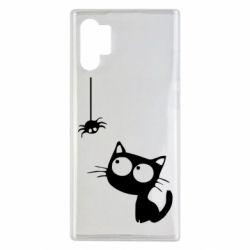 Чехол для Samsung Note 10 Plus Котик и паук