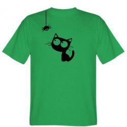 Мужская футболка Котик и паук