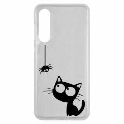 Чехол для Xiaomi Mi9 SE Котик и паук