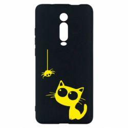 Чехол для Xiaomi Mi9T Котик и паук