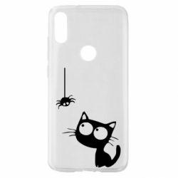 Чехол для Xiaomi Mi Play Котик и паук
