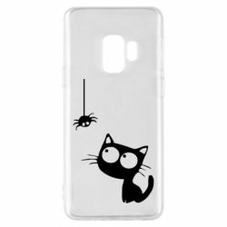 Чехол для Samsung S9 Котик и паук