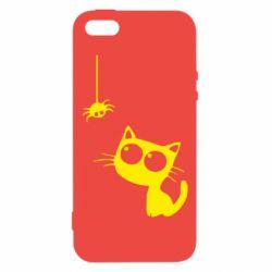 Чехол для iPhone5/5S/SE Котик и паук