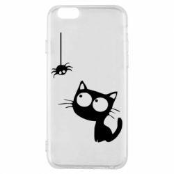 Чехол для iPhone 6/6S Котик и паук