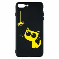 Чохол для iPhone 8 Plus Котик і павук