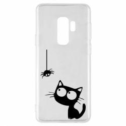 Чехол для Samsung S9+ Котик и паук