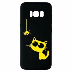 Чохол для Samsung S8 Котик і павук
