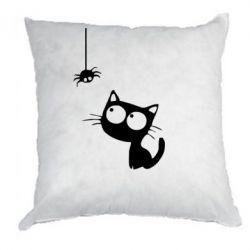 Подушка Котик и паук - FatLine