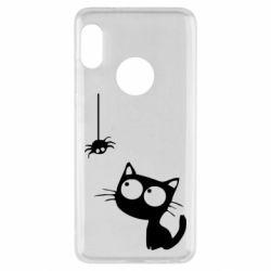 Чехол для Xiaomi Redmi Note 5 Котик и паук