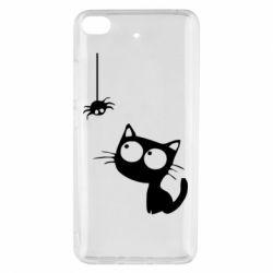 Чехол для Xiaomi Mi 5s Котик и паук
