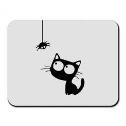 Коврик для мыши Котик и паук - FatLine