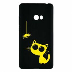 Чехол для Xiaomi Mi Note 2 Котик и паук