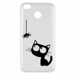 Чехол для Xiaomi Redmi 4x Котик и паук