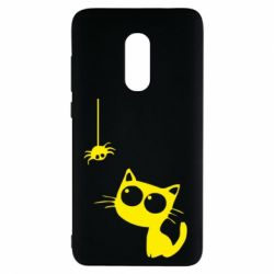 Чехол для Xiaomi Redmi Note 4 Котик и паук