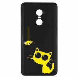 Чехол для Xiaomi Redmi Note 4x Котик и паук