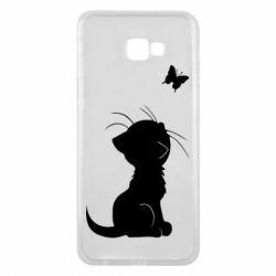 Чохол для Samsung J4 Plus 2018 Котик з метеликом
