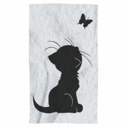 Рушник Котик з метеликом