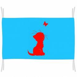 Прапор Котик з метеликом