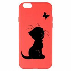 Чохол для iPhone 6 Plus/6S Plus Котик з метеликом