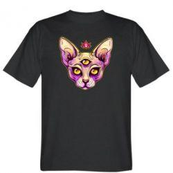 Чоловіча футболка Котик сфінкс рожевий