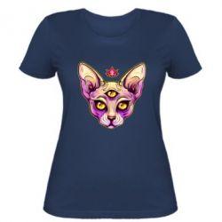 Жіноча футболка Котик сфінкс рожевий