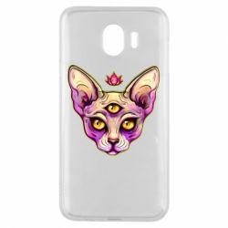 Чохол для Samsung J4 Котик сфінкс рожевий