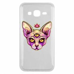 Чохол для Samsung J5 2015 Котик сфінкс рожевий