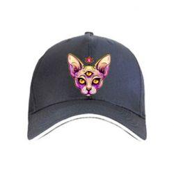 Кепка Котик сфінкс рожевий