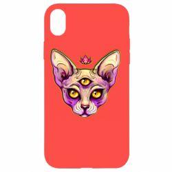 Чохол для iPhone XR Котик сфінкс рожевий
