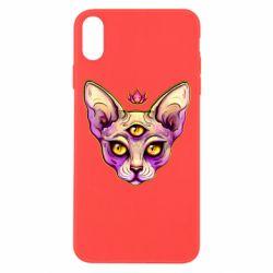 Чохол для iPhone Xs Max Котик сфінкс рожевий