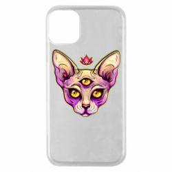 Чохол для iPhone 11 Pro Котик сфінкс рожевий