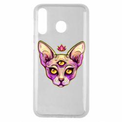 Чохол для Samsung M30 Котик сфінкс рожевий