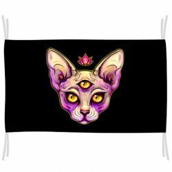 Прапор Котик сфінкс рожевий