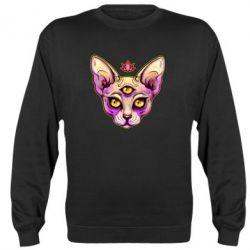 Реглан (світшот) Котик сфінкс рожевий