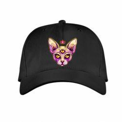 Дитяча кепка Котик сфінкс рожевий