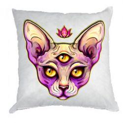 Подушка Котик сфінкс рожевий