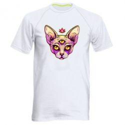 Чоловіча спортивна футболка Котик сфінкс рожевий
