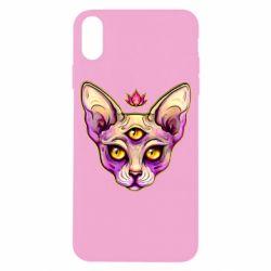 Чохол для iPhone X/Xs Котик сфінкс рожевий
