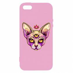 Чохол для iphone 5/5S/SE Котик сфінкс рожевий