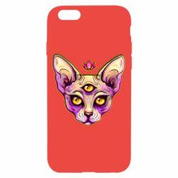 Чохол для iPhone 6/6S Котик сфінкс рожевий