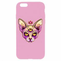 Чохол для iPhone 6 Plus/6S Plus Котик сфінкс рожевий
