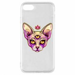 Чохол для iPhone 7 Котик сфінкс рожевий