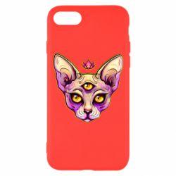 Чохол для iPhone 8 Котик сфінкс рожевий
